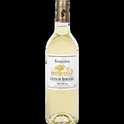 Vin blanc AOP Côtes de Bergerac moelleux Fonsecoste U, 75cl