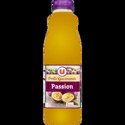 """Jus passion """"fruits gourmands"""" U, bouteille de 1l"""