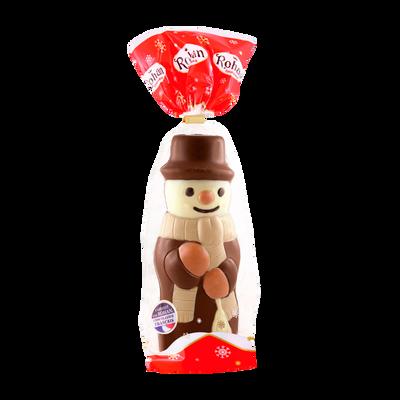 Bonhomme de neige décoré chocolat lait ROHAN, 140g