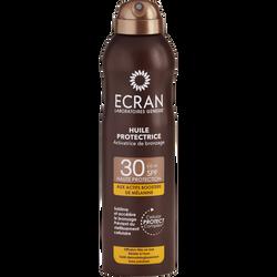 Brume huile protectrice activatrice de bronzage SPF30 ECRAN, flacon de250ml
