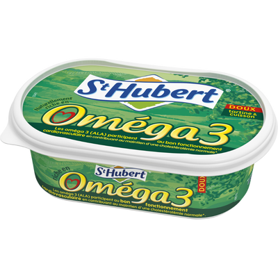 Matière grasse allégée 50% de MG, tartine&cuisson ST HUBERT, Oméga 3 barquette de 255g