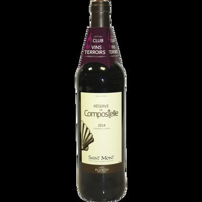 Vin rouge AOP Saint Mont CVT réserve de Compostelle, 75cl