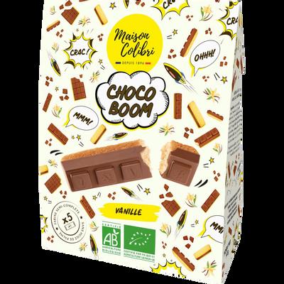 Gâteau à la vanille moulé au chocolat au lait Chocoboom bio Maison COLIBRI paquet 140g
