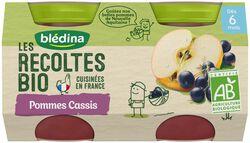 Les récoltes Bio Pomme Cassis X 2X130g