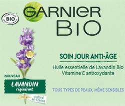Soin de jour bio anti-âge parfum lavandin régénérant GARNIER, 50ml