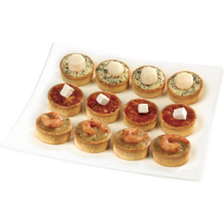 "Assortiment ""dégustation"" 12 mini tartes BIGARD, 180g"