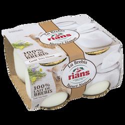 Yaourts au lait brebis RIANS, 4 unités de 115g