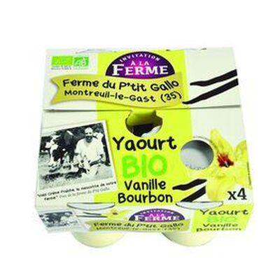 Yaourts aromatisés vanille 4x125gr Le p'tit gallo