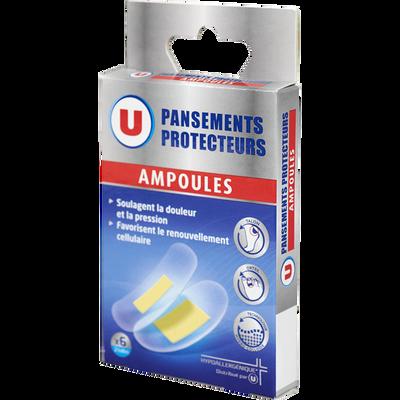 Pansements protecteurs spécial anti-ampoules U, x6