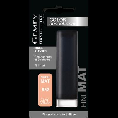 "Rouge à lèvres ""Color sensational creamy mattes"" n°932 clay crush - blister MAYBELLINE"