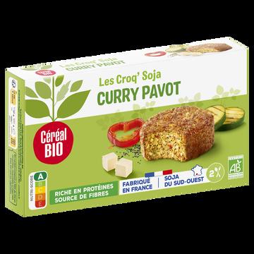 Céréal Bio Croq' Soja Au Curry Et Pavot Cereal Bio, 200g