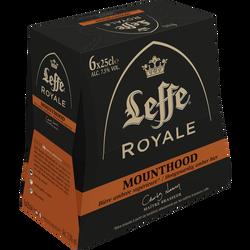 Bière ambrée LEFFE, 7,5° pack de 6x25cl