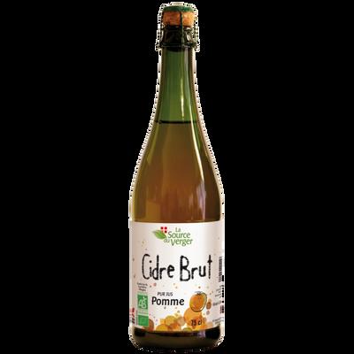 Cidre brut bio LA SOURCE DU VERGER 4,5°, bouteille de 75CL