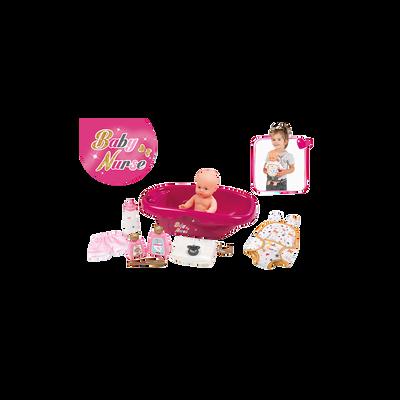 Baignoire + poupon baby nurse SMOBY