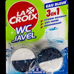 Bloc pour chasse d'eau avec javel Eau Bleue LA CROIX, 2 blocs