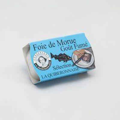 LA QUIBERONNAISE - FOIE DE MORUE GOUT FUME - 121G