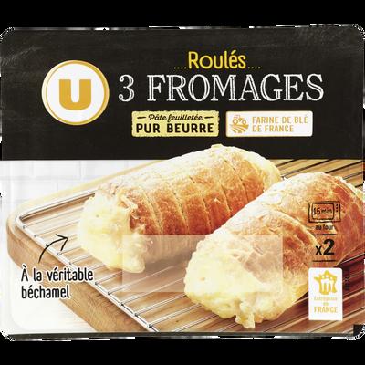 Roulés aux 3 fromages U, 2 unités, 260g