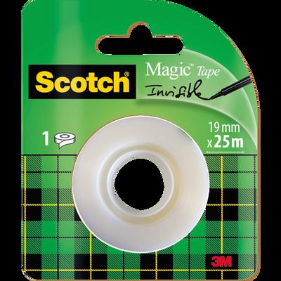 Recharge adhésif invisble Magic SCOTCH, rouleau de 25mx19mm