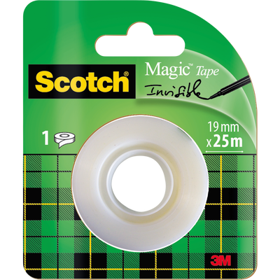 Recharge ruban adhésif SCOTCH Magic, rouleau de 25m x19mm