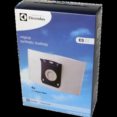 Sacs pour aspirateurs ELECTROLUX ES01, 4 unités + filtre moteur Utraone mini