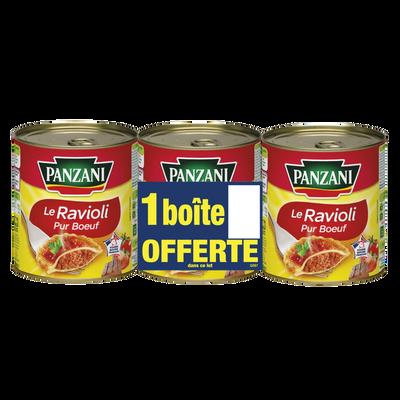 Ravioli pur boeuf Panzani boîte 2x4/4 + 1 offert