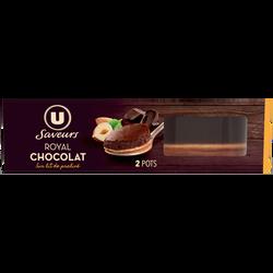 Dessert pâtissier royal chocolat sur lit de praliné U SAVEURS x2
