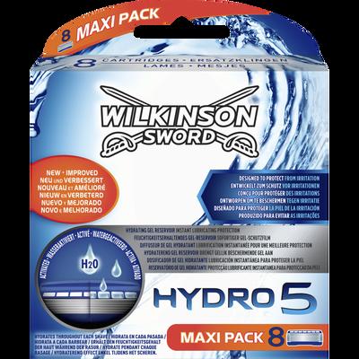 Lames de rasoir hydro 5 céramide WILKINSON, x8