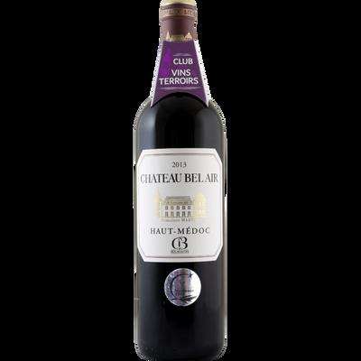 Vin rouge AOP Haut-Médoc cru bourgeois Château Bel Air, 75cl
