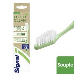 Brosse à dents ecolo clean souple SIGNAL x2