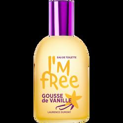 Eau de toilette parfum gousse de vanille, I'M FREE, vaporisateur de 110 ml