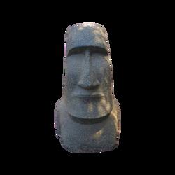 MOAI en ciment et pierre,dimensions:43x44xh100cm