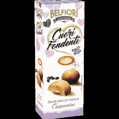 Biscuits fourrés à la crème goût cappuccino BELFIORI, 200g