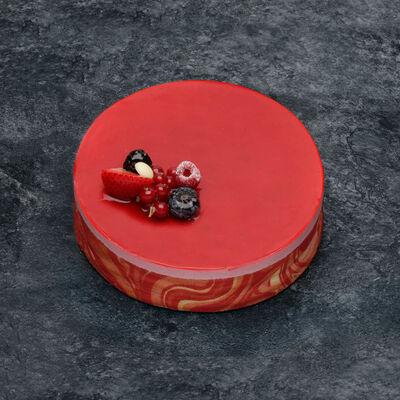 Bavarois aux fruits rouges décongelé, 4 parts, 500g