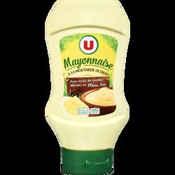 Mayonnaise à la moutarde de Dijon U, flacon souple queez de 430g