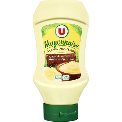 Mayonnaise à la moutarde de Dijon U, flacon souple queez de 430g