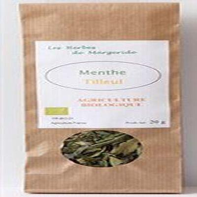 Les herbes en Margeride, Menthe Tilleul, Bio 20g