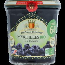 Les Comtes de Provence Confiture De Myrtille Bio , 350g