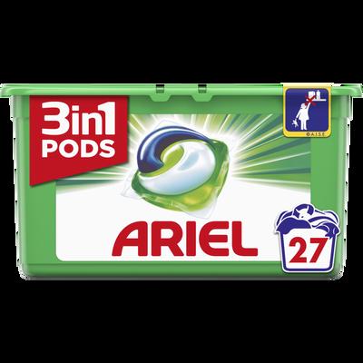Lessive liquide original pods ARIEL, 27 doses soit 729g