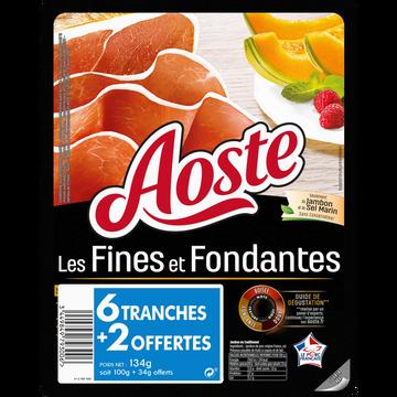 Aoste Jambon Cru Fines Et Fondantes Âge D'or Aoste, 6 + 2 Tranches Offertessoit 134g