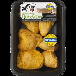 Morceaux de poulet thym/citron, barquette, 800g