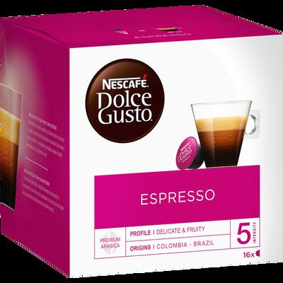 Café Espresso NETLE DOLCE GUSTO, 16 dosettes soit 96g