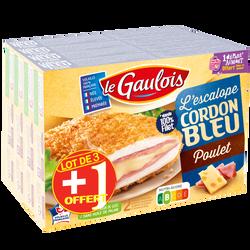 Lot de 3 boîtes de cordon bleu poulet Le Gaulois 600g
