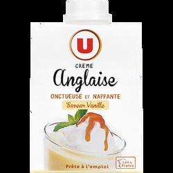 Crème anglaise saveur vanille UHT U, 50cl