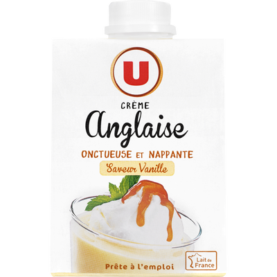 Crème anglaise saveur vanille UHT, brique de 50cl