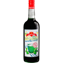 Sirop artisanal de menthe EYGUEBELLE bouteille verre 1L