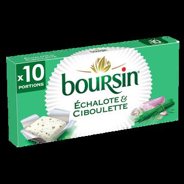 Boursin Fromage À Tartiner Boursin Echalote & Ciboulette 10 Portions, 160g