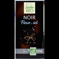 Tablette au chocolat noir fleur de sel bio & équitable JARDIN BIO, 100g