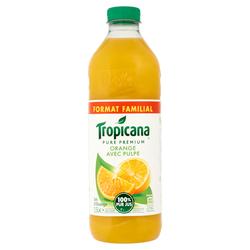 Pur jus d'orange pulpé Pure Premium TROPICANA, 1,5l
