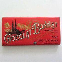 CHOCOLAT NOIR 100% CACAO 100G - BONNAT CHOCOLATIER