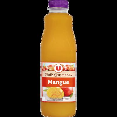 """Jus à la mangue """"fruits gourmands"""" U, bouteille de 1l"""